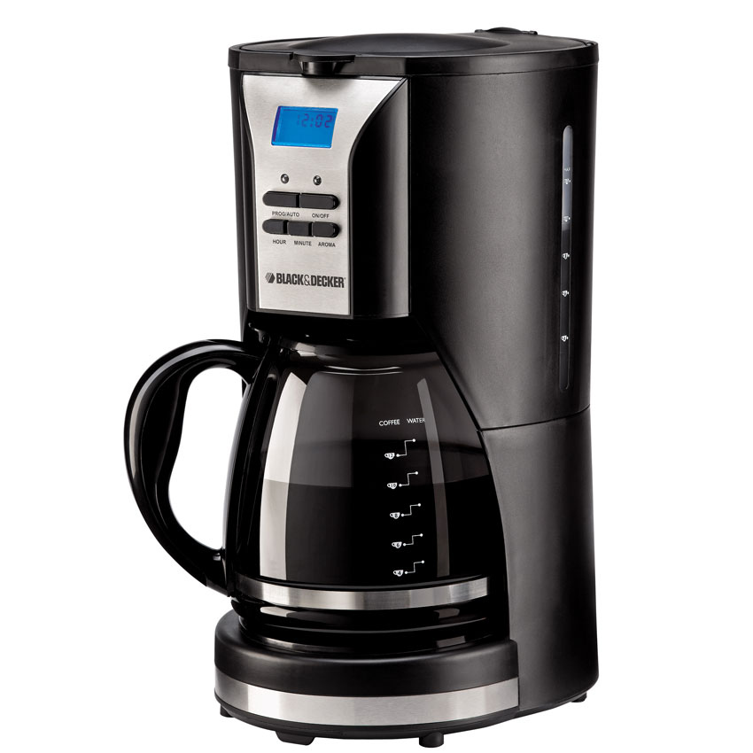 black and decker dcm90 12 cup 220 volt coffee maker with timer display. Black Bedroom Furniture Sets. Home Design Ideas