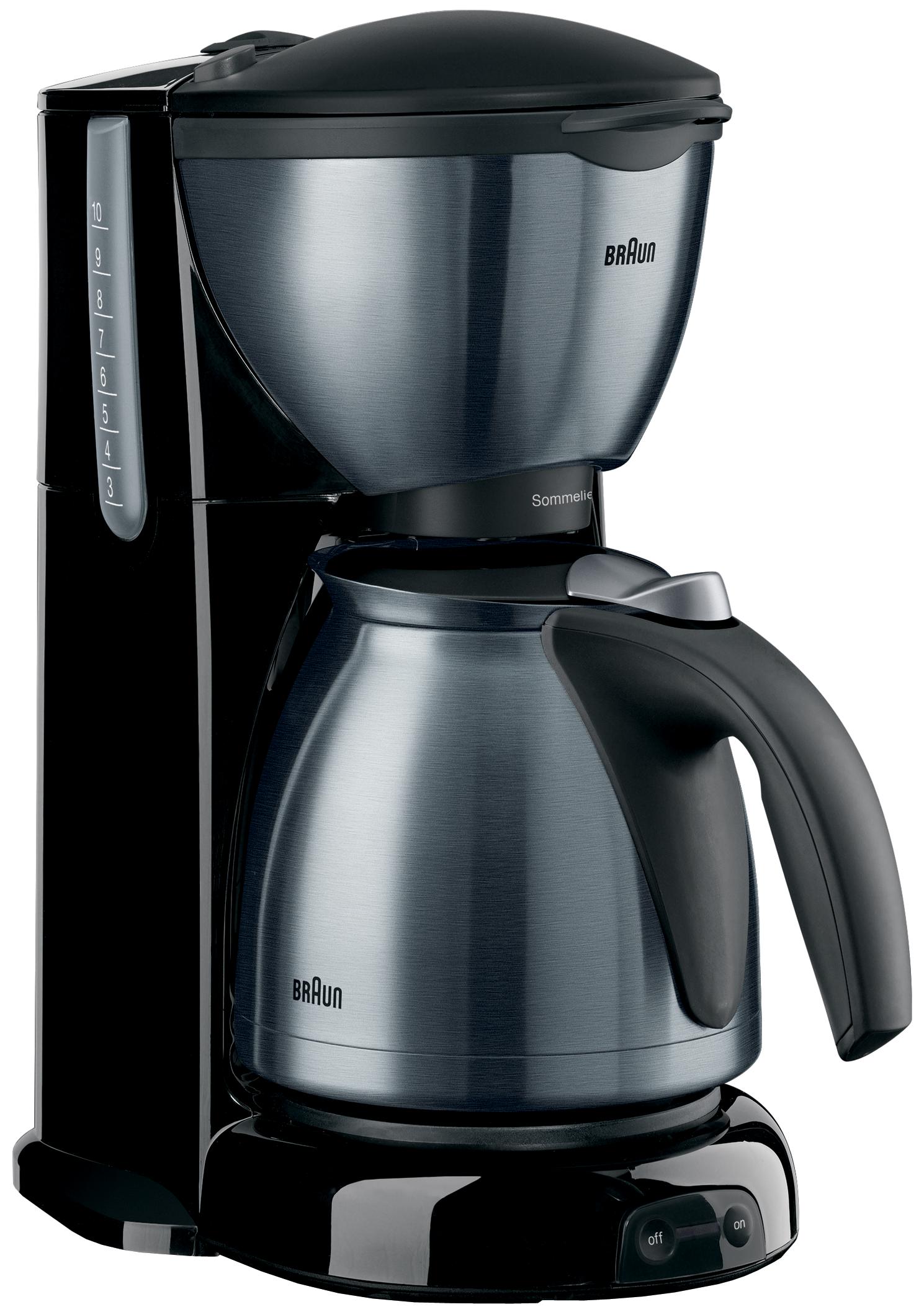 Coffee Maker Stainless Steel Jug : Braun KF610 220 Volt Coffee Maker with Stainless Steel Jug