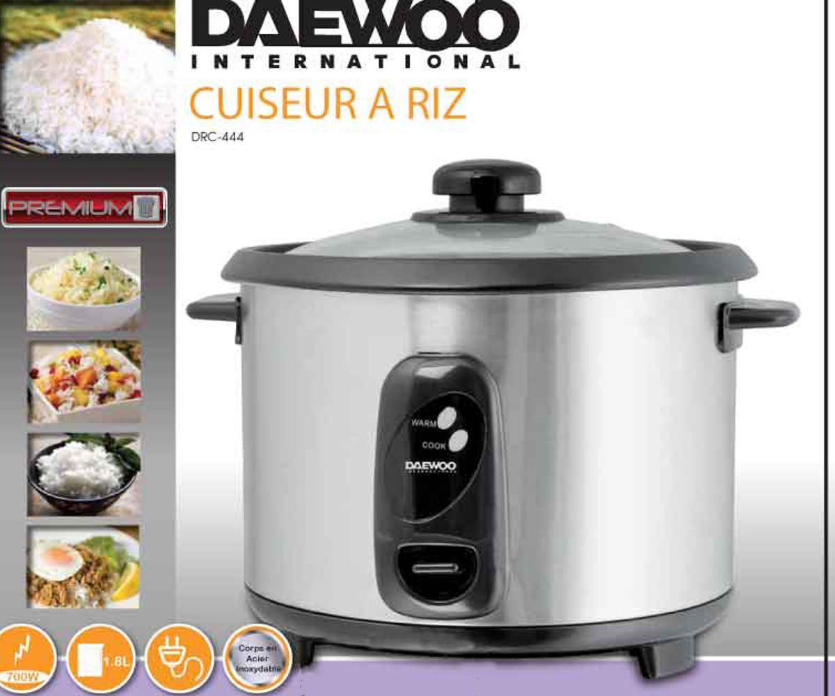 daewoo drc 444 220 volt stainless steel 1 8l rice cooker  rh   220stores com