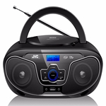 JVC RD-N327 Bluetooth Portable Radio and CD Player With USB and AUX Port