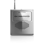 Philips AE1500 Portable Pocket Size AM/FM Battery Operated Silver Radio