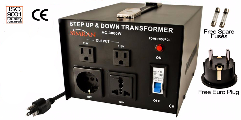 AC3000W Voltage Converter 220V 110V Step Up Down Transformer 3000 Watt