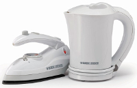 Black And Decker TK200 Cordless Kettle & Iron Combo Pack 220 Volt Black And Decker TK200, 220-240 VOLT, 220V, 220-240, 240V, KETTLE FOR EXPORT, KETTLE FOR OVERSEAS, INTERNATIONAL KETTLE, 220V KETTLE, 220 KETTLE, 220 VOLT KETTLE , THERMO POT