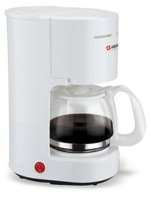Alpina 220 240 Volt 6-Cup Coffeemaker Europe Asia UK Africa White