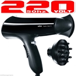 Braun HD330 220 Volt SatinHair 3 Hair Blower Dryer (Not For Use in USA)