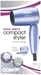 Conair 1600w Dual Volt Travel Folding Hair Dryer 110/220 Volt for WORLDWIDE USE - 124ANP