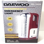 Daewoo DRL-1025S 36 LED Dual Voltage 110-220V Rechargeable Flash Light Lantern WORLDWIDE USE
