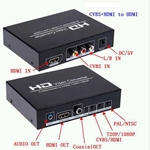 PAL NTSC 720P 1080P HD Video Converter Upscaler AV HDMI Converter V250