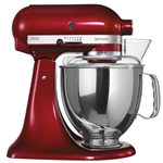 KitchenAid Silver 220 Volt 4.8L Artisan Stand Mixer 220V 300 Watt 10-Speed 5Qt