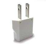 MF-7 European Asian to American Plug Adapter White MF7,plug adapter,adapter plug,adaptor,plug socket,flat plug,adapters,US,europe,asia,africa,india,uk,universal adapters,220 plug,220v adapter,220 volt adapter,220 adaptor