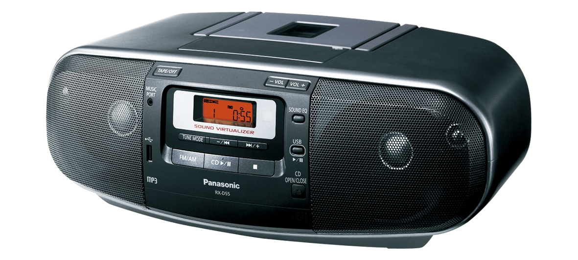 Panasonic RX-D55 110/220 Dual Voltage CD Tape Cassette Radio Boombox RXD55