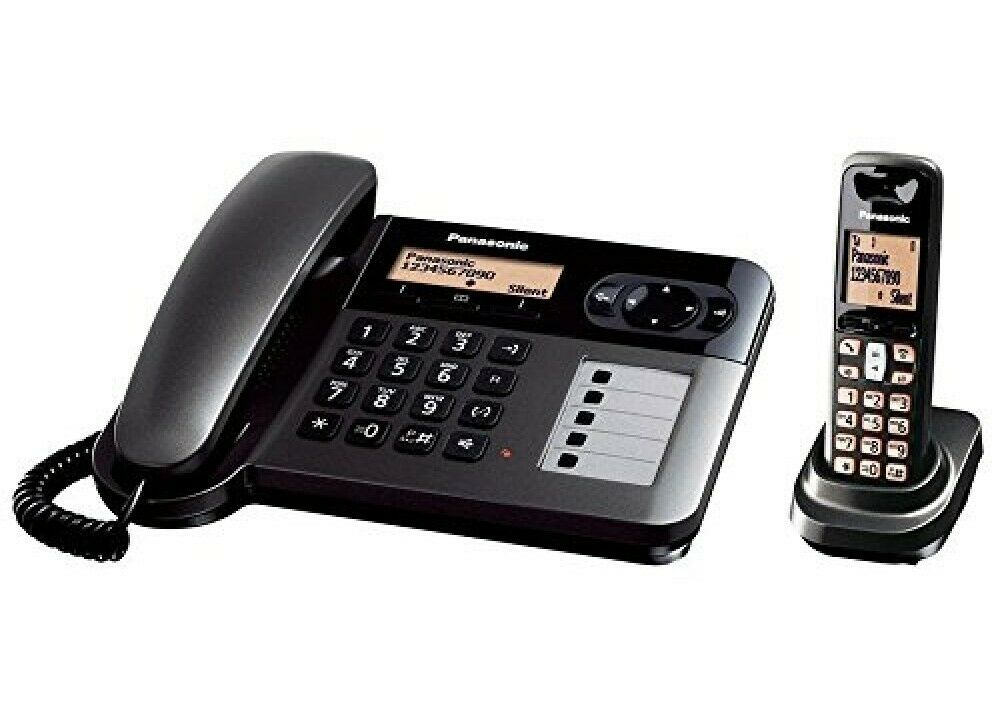Panasonic KX-TGF110 220 Volt Corded Cordless Phone 220V-240V For Export International Use