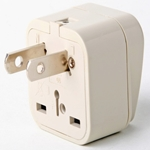 SS410 Universal Plug Adapter for Standard USA Outlet
