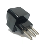 SS418 Italy Universal Plug Adapter Black Italy plug adapter,SS-418,adapter plug,adaptor,plug socket,universal plug,adapters,switzerland,europe,asia,africa,india,uk,universal adapters,220 plug,220v adapter,220 volt adapter,220 adaptor